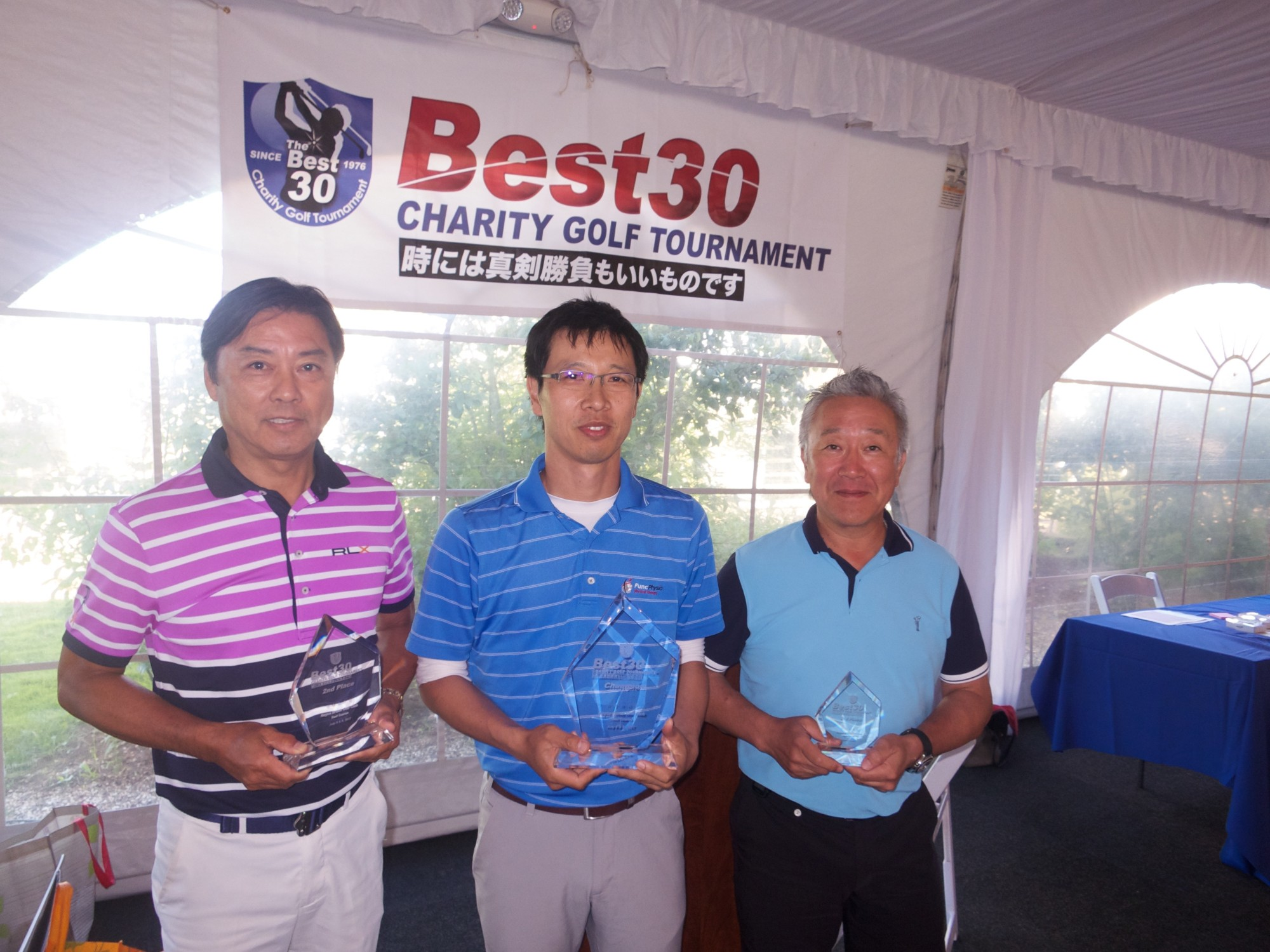 2017 Best 30, Left (Jun Nakamura, 2nd),Center (Yohei Takada, Winner), Right (Ren Yamagata, 3rd)
